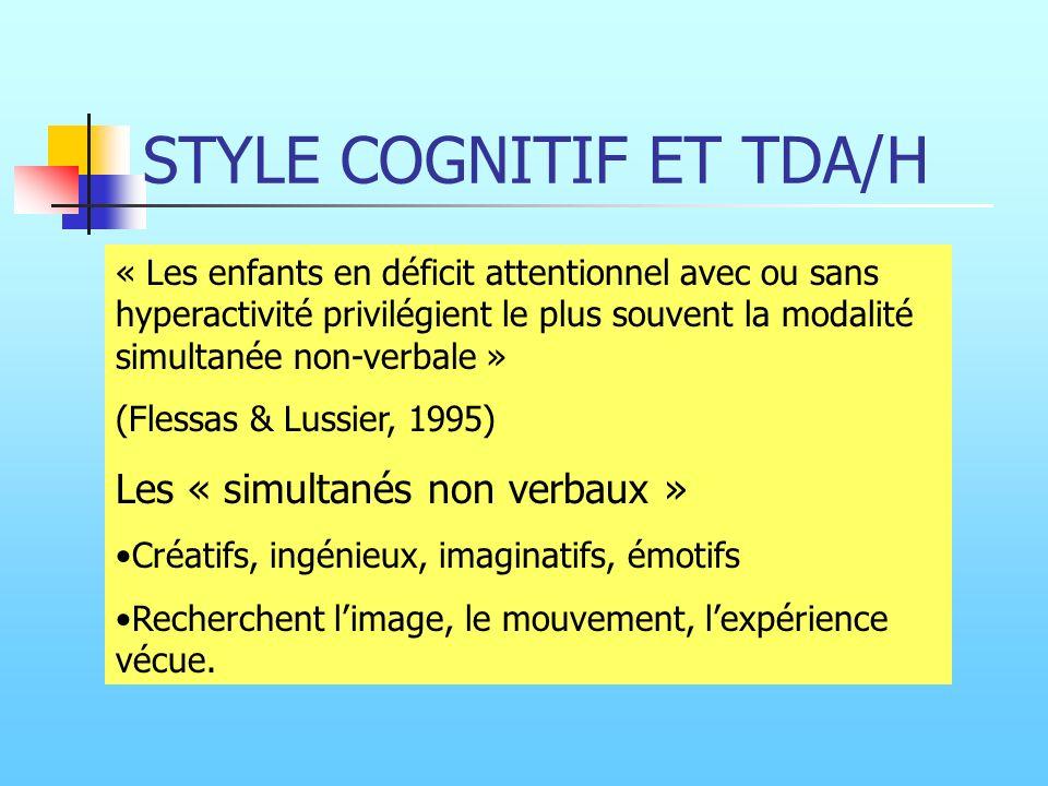 STYLE COGNITIF ET TDA/H