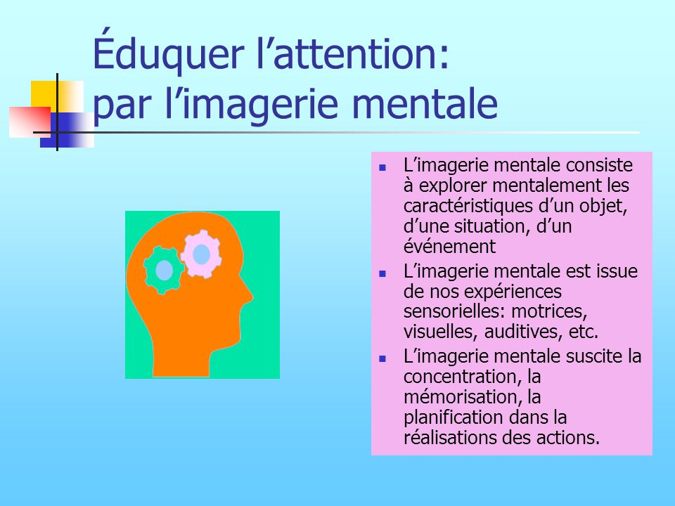 Éduquer l'attention: par l'imagerie mentale