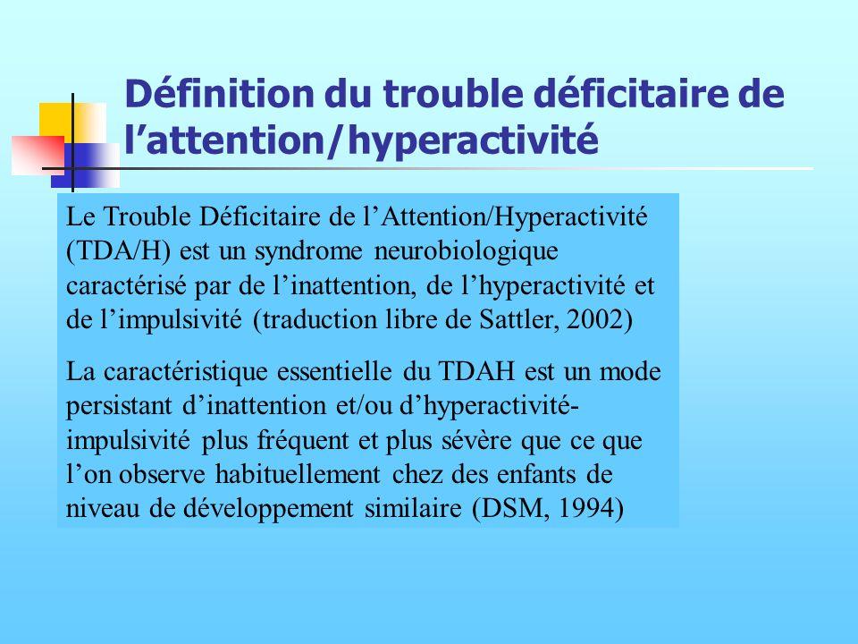 Définition du trouble déficitaire de l'attention/hyperactivité