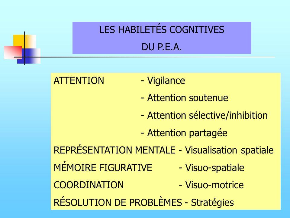 LES HABILETÉS COGNITIVES