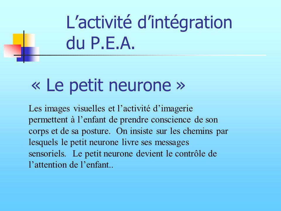 L'activité d'intégration du P.E.A.