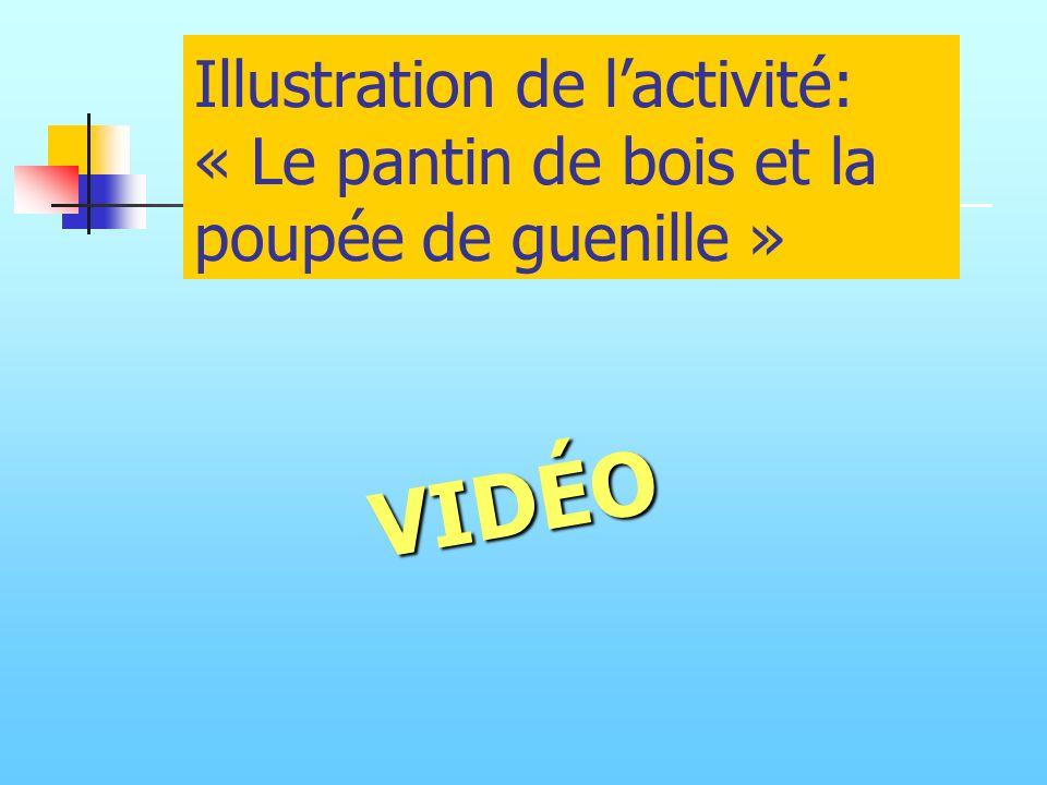 Illustration de l'activité: « Le pantin de bois et la poupée de guenille »