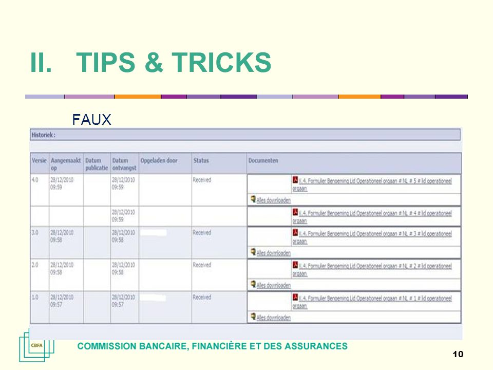 TIPS & TRICKS FAUX