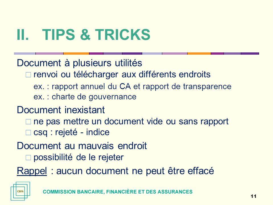 TIPS & TRICKS Document à plusieurs utilités