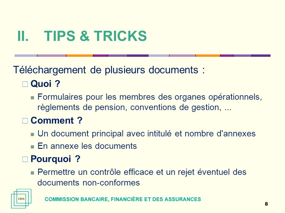 TIPS & TRICKS Téléchargement de plusieurs documents : Quoi Comment