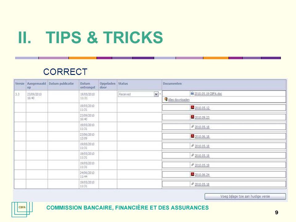 TIPS & TRICKS CORRECT