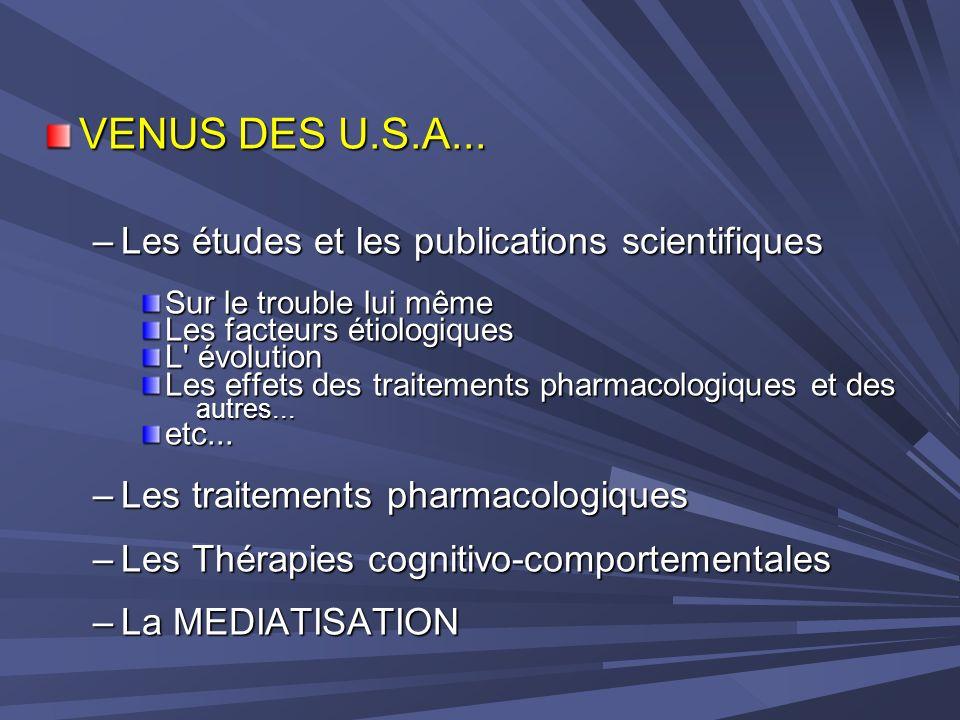 VENUS DES U.S.A... Les études et les publications scientifiques