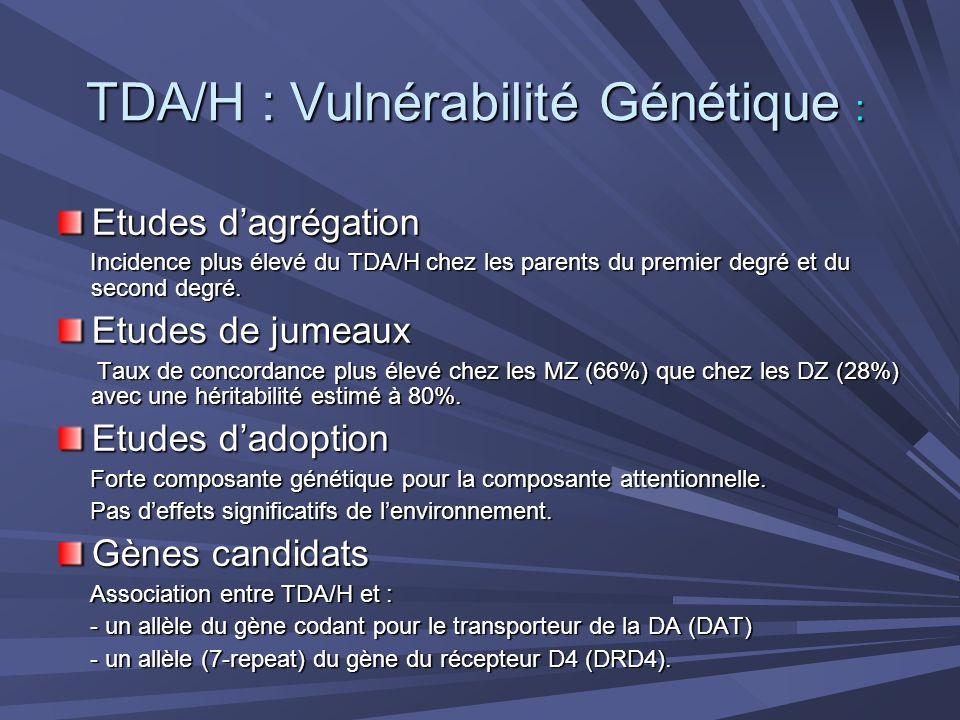 TDA/H : Vulnérabilité Génétique :