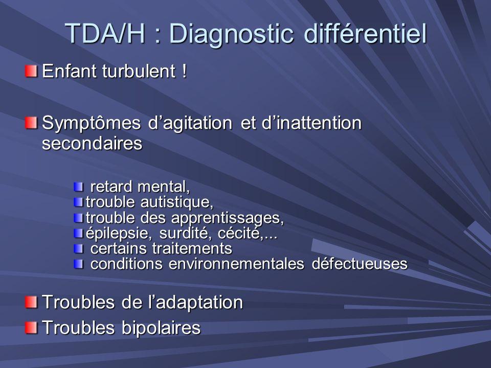TDA/H : Diagnostic différentiel
