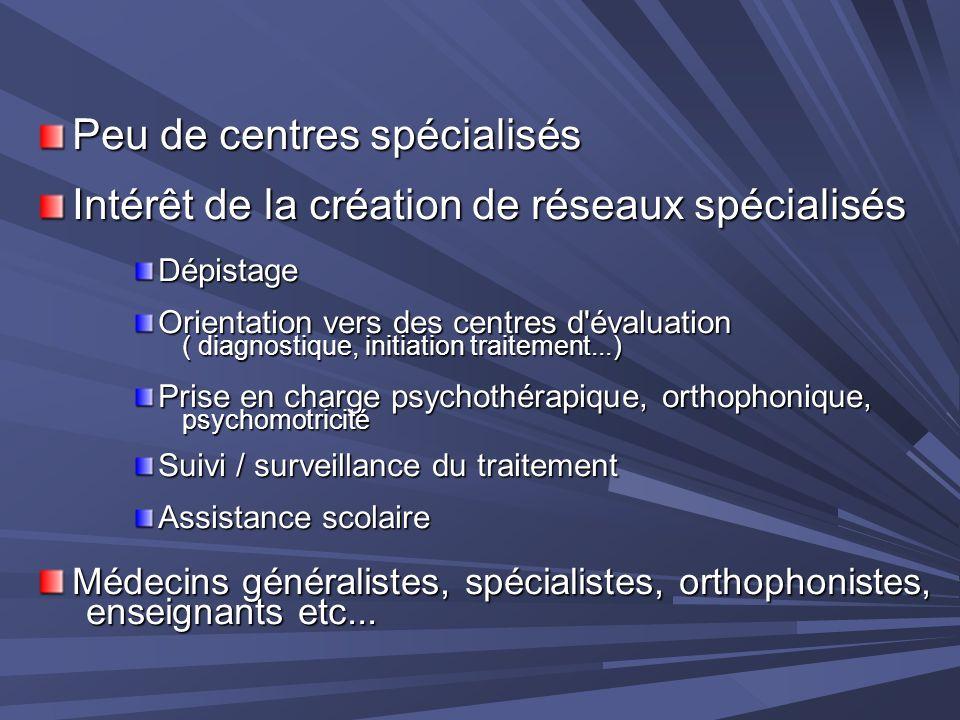 Peu de centres spécialisés