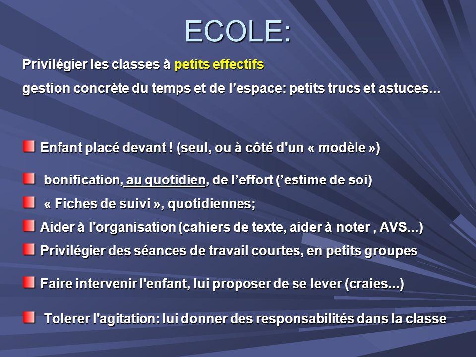 ECOLE: Privilégier les classes à petits effectifs