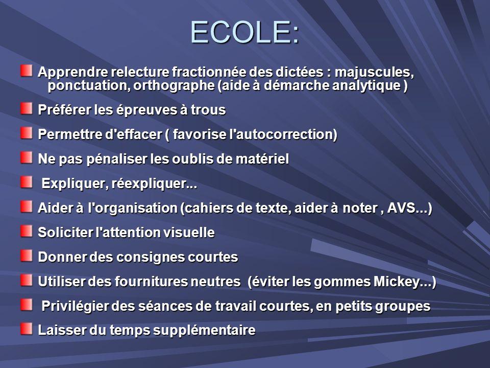 ECOLE: Apprendre relecture fractionnée des dictées : majuscules,