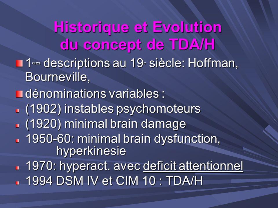 Historique et Evolution du concept de TDA/H