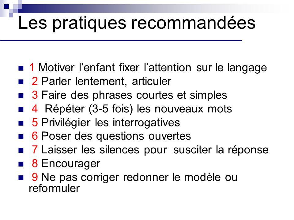 Les pratiques recommandées