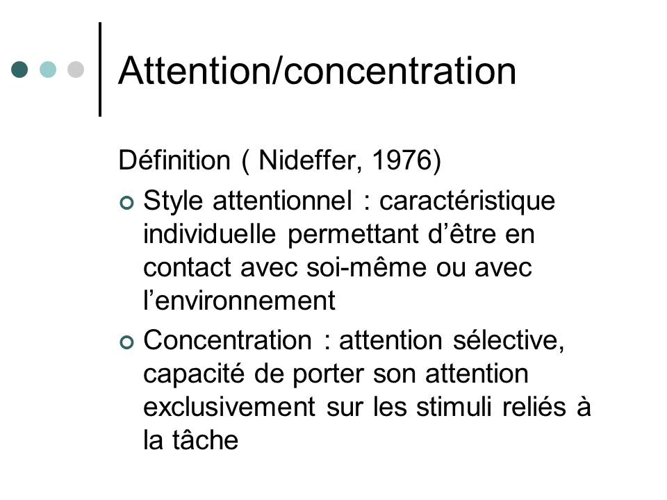Attention/concentration