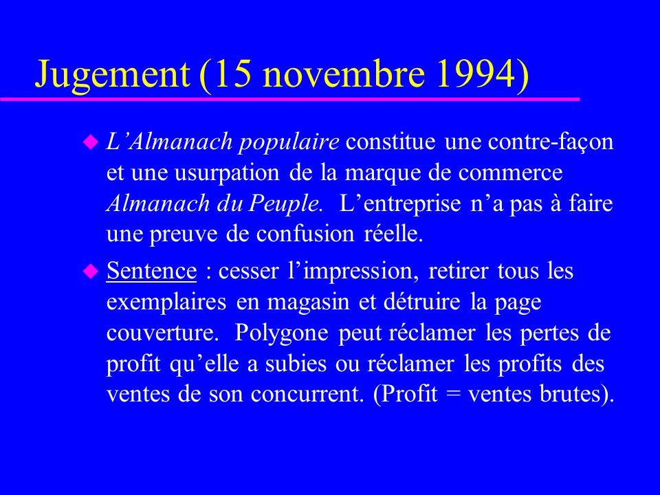 Jugement (15 novembre 1994)