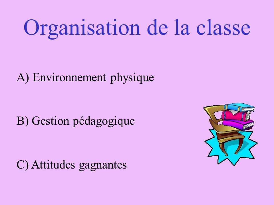 Organisation de la classe