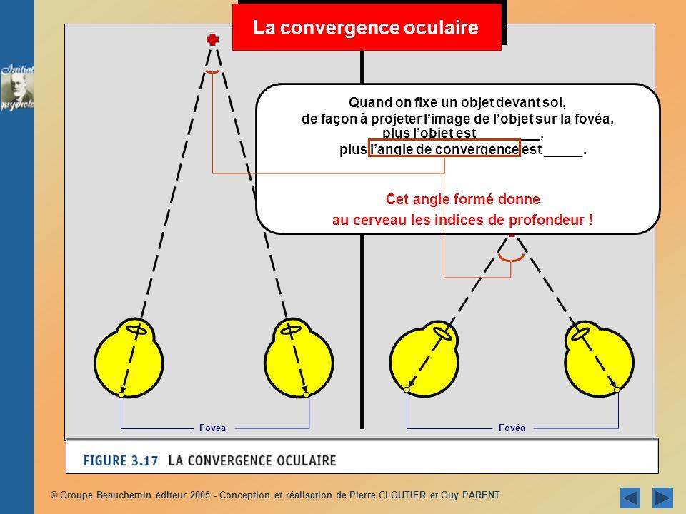La convergence oculaire