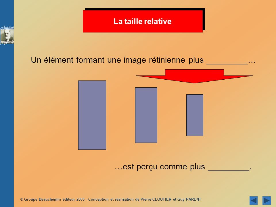 Un élément formant une image rétinienne plus _________…