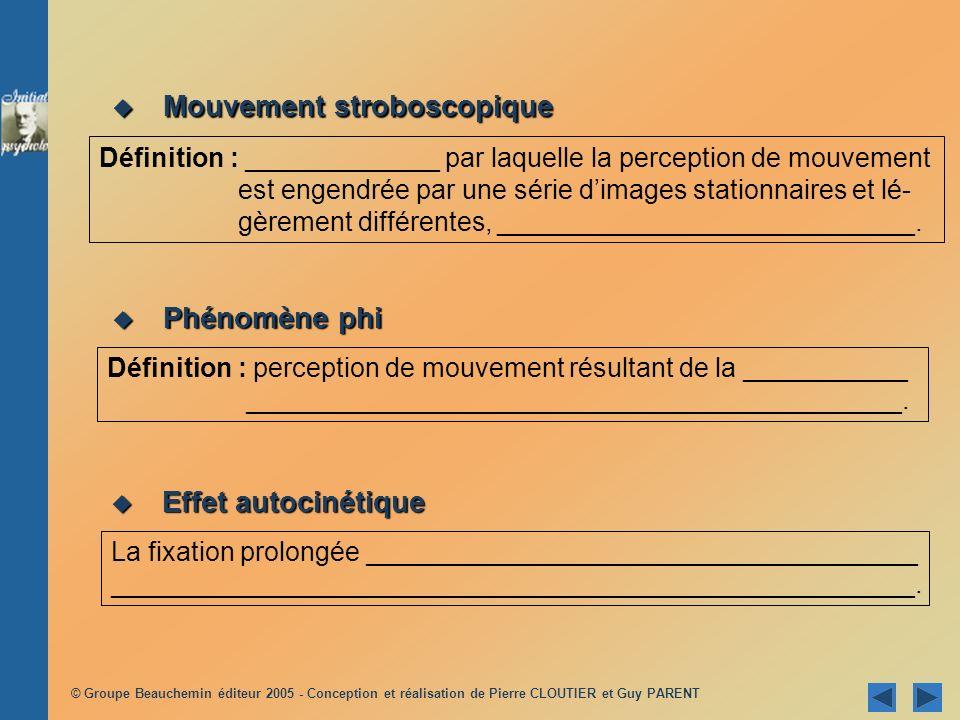 Mouvement stroboscopique
