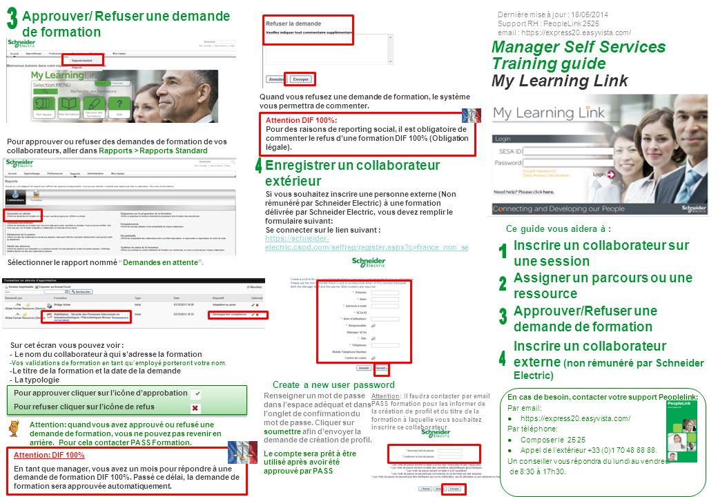 Manager Self Services Training guide My Learning Link