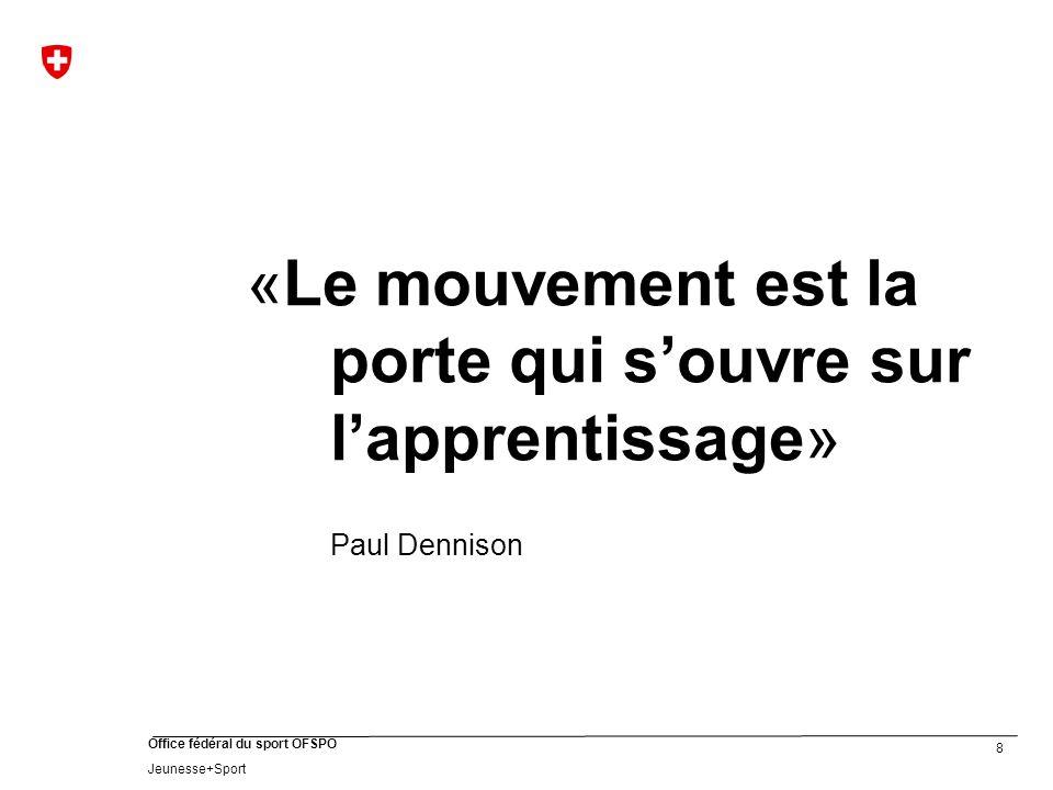 «Le mouvement est la porte qui s'ouvre sur l'apprentissage»
