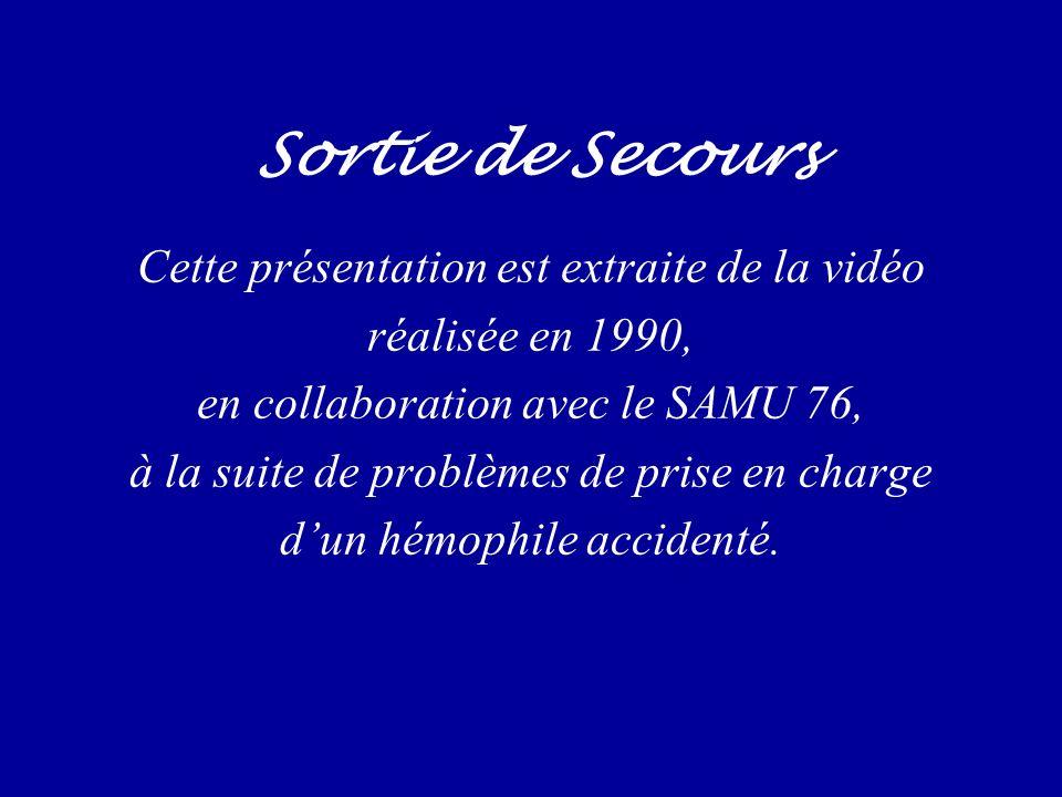 Sortie de Secours Cette présentation est extraite de la vidéo