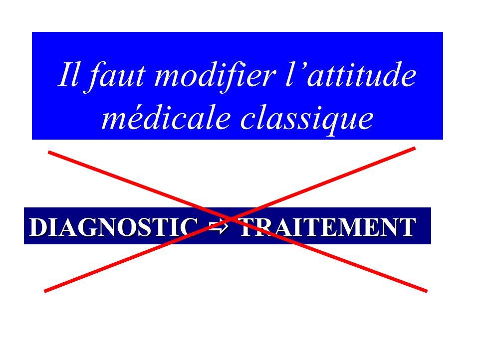 Il faut modifier l'attitude médicale classique