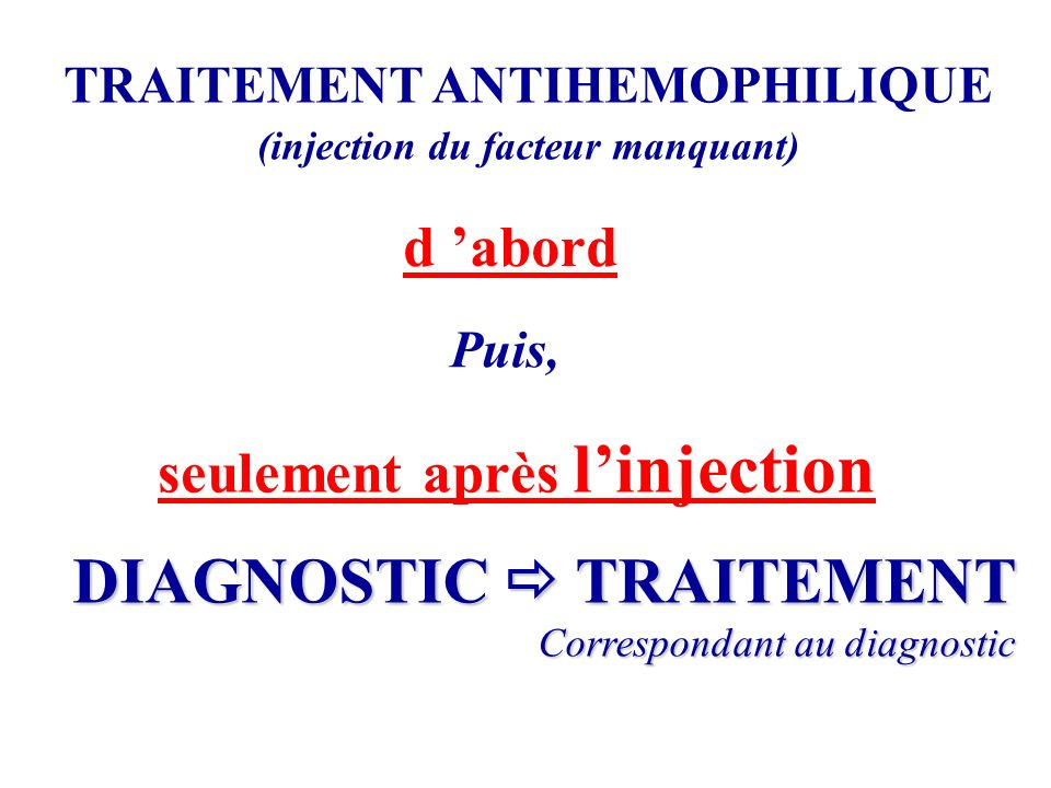 DIAGNOSTIC  TRAITEMENT