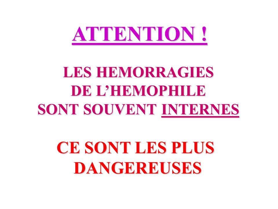 ATTENTION ! CE SONT LES PLUS DANGEREUSES LES HEMORRAGIES
