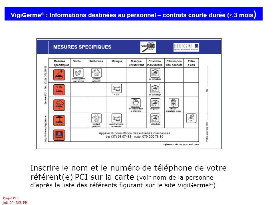 VigiGerme® : Informations destinées au personnel – contrats courte durée ( 3 mois)