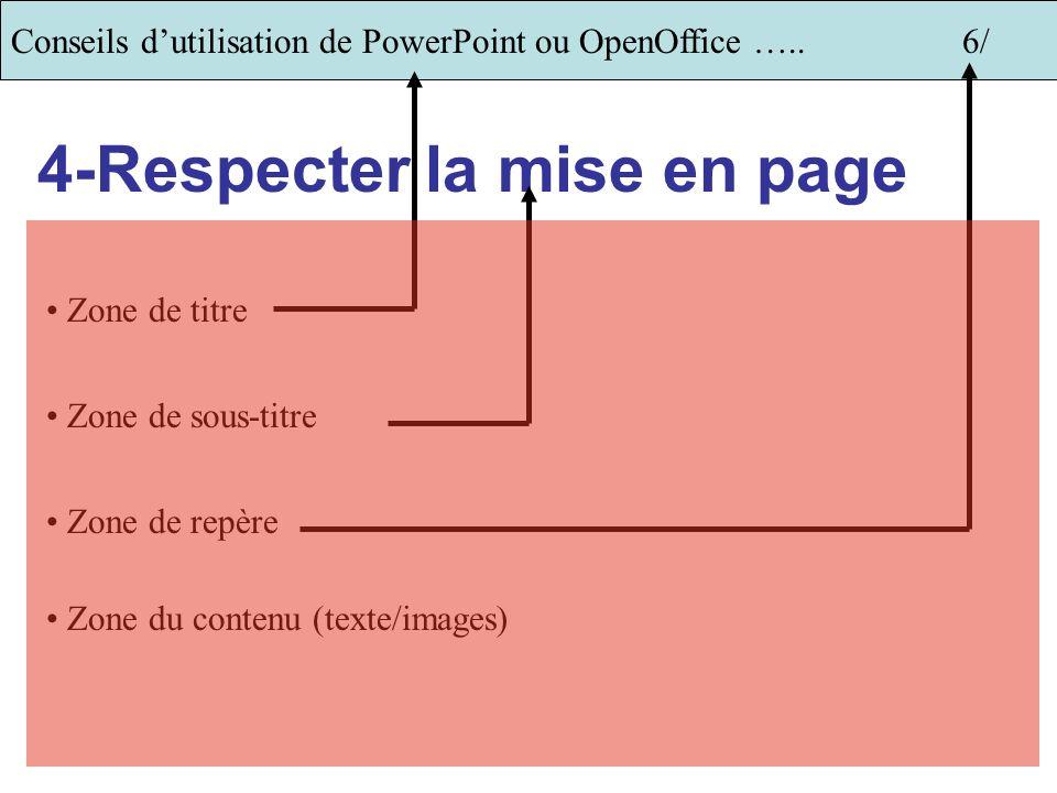 4-Respecter la mise en page