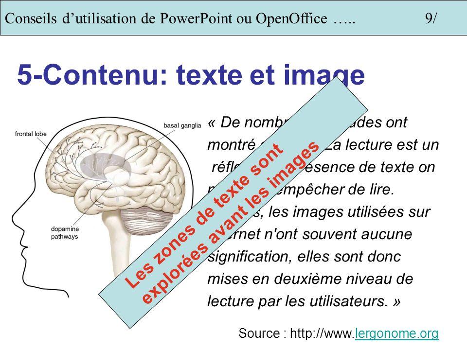 5-Contenu: texte et image