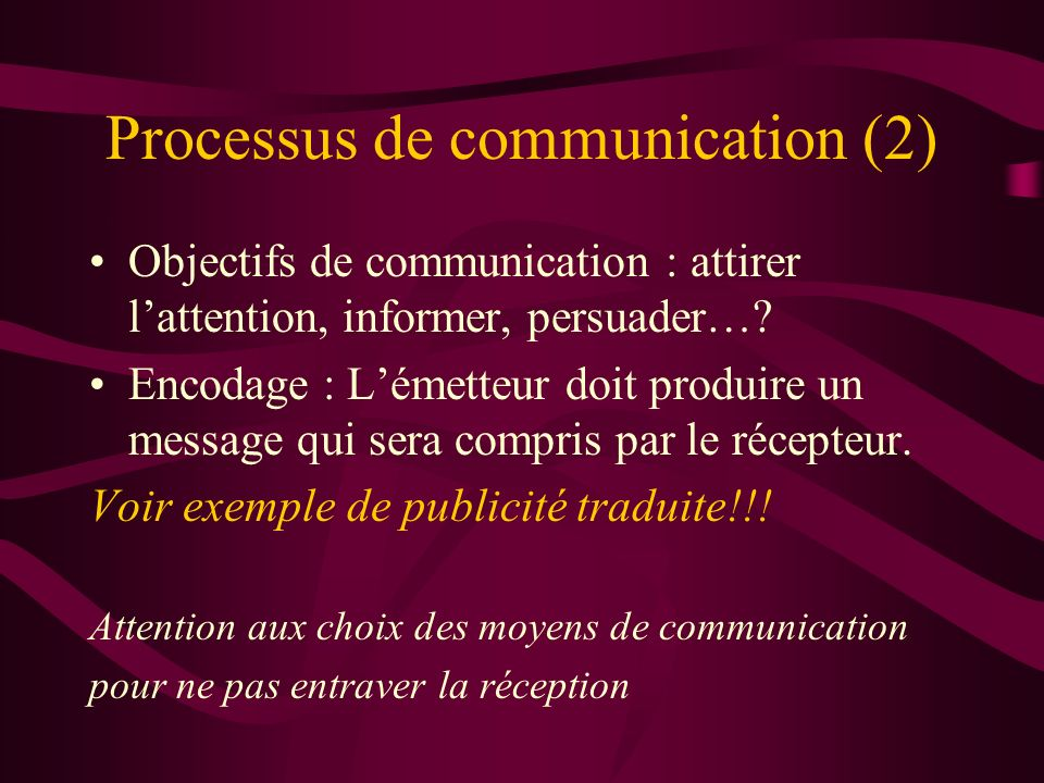 Processus de communication (2)
