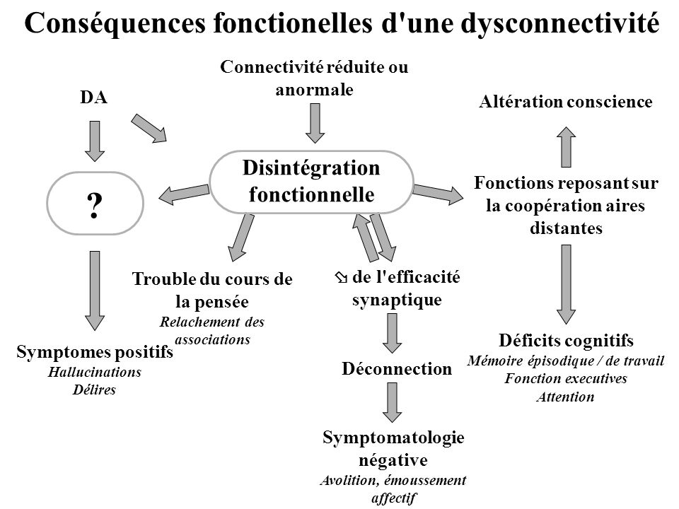 Conséquences fonctionelles d une dysconnectivité
