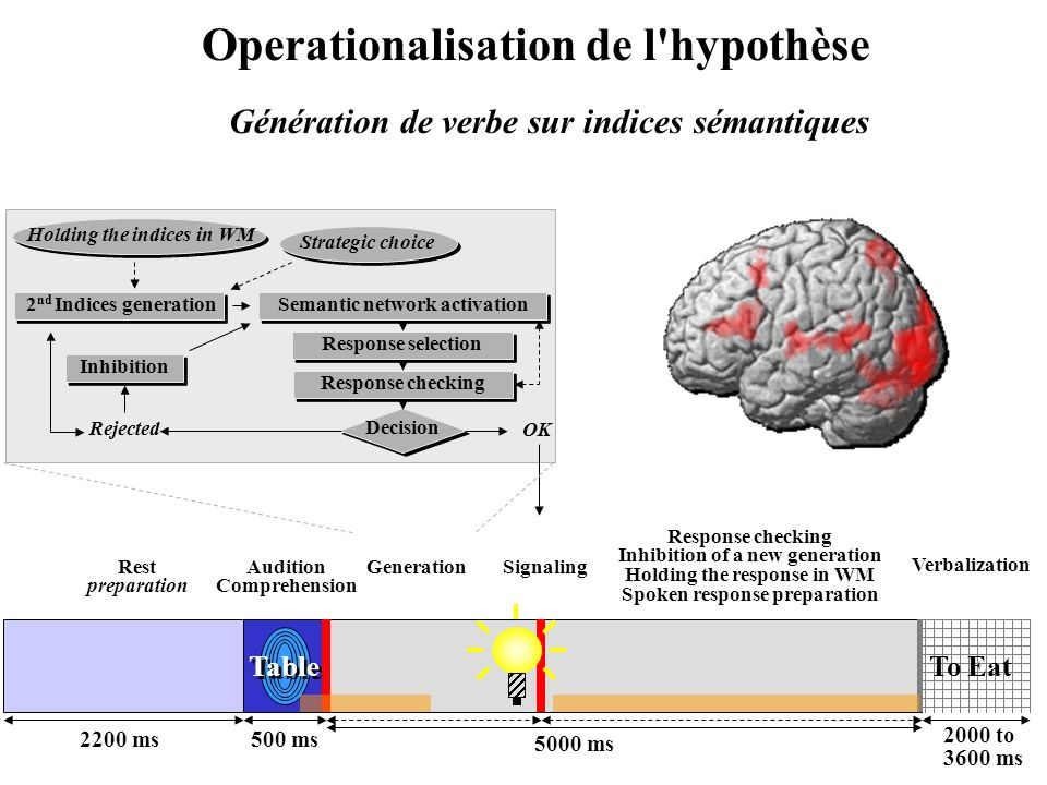 Operationalisation de l hypothèse