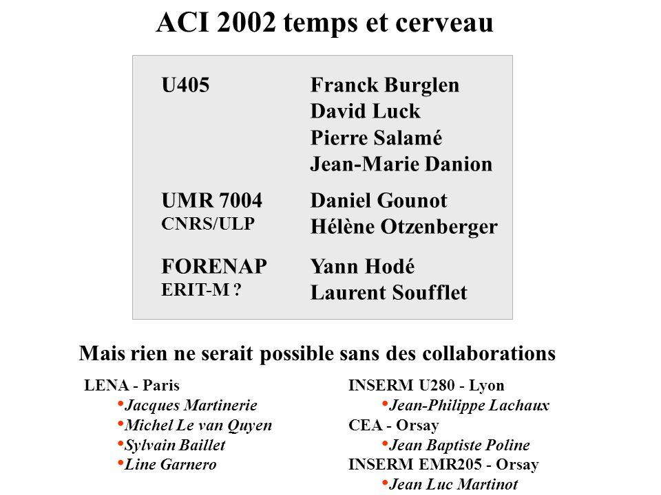 ACI 2002 temps et cerveau Franck Burglen David Luck Pierre Salamé