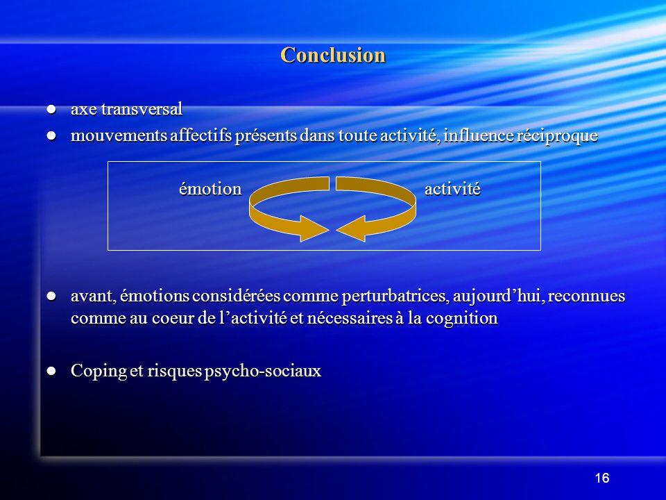 Conclusion axe transversal
