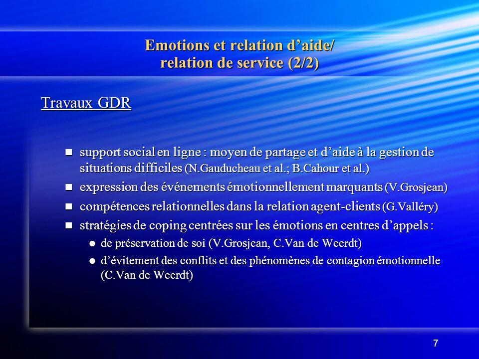 Emotions et relation d'aide/ relation de service (2/2)