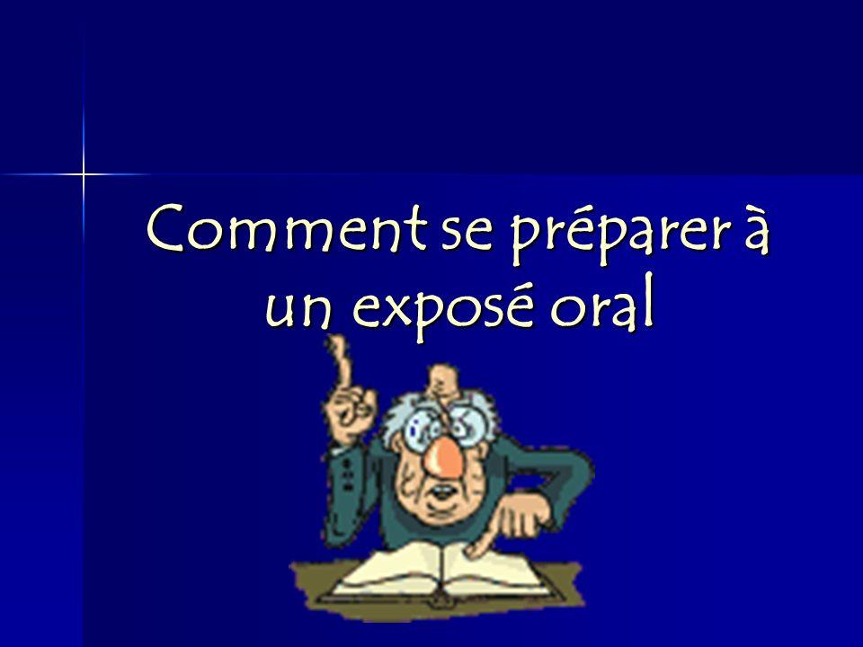 Comment se préparer à un exposé oral