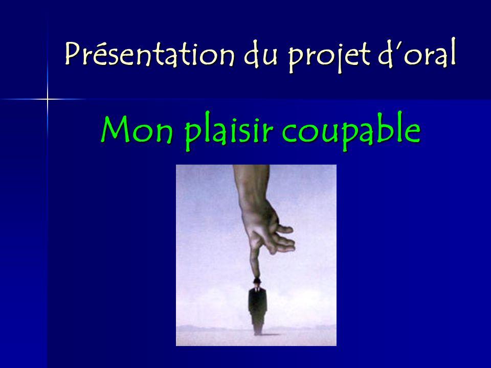 Présentation du projet d'oral