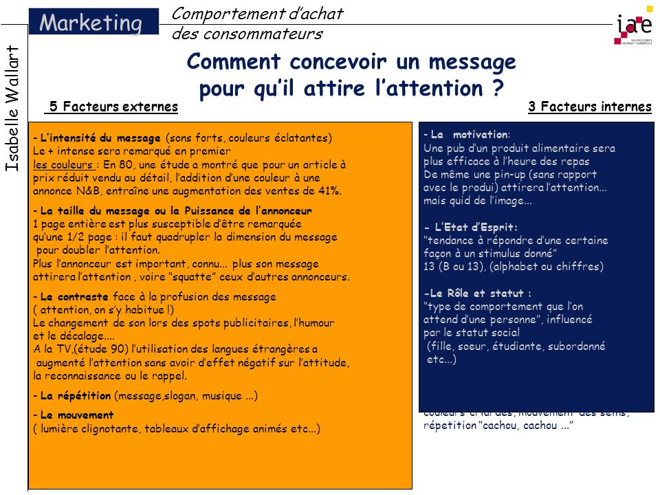 Comment concevoir un message pour qu'il attire l'attention