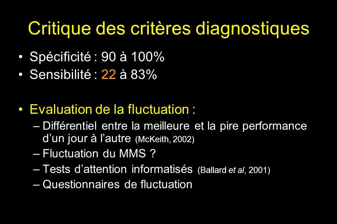 Critique des critères diagnostiques