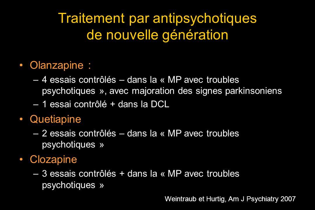Traitement par antipsychotiques de nouvelle génération