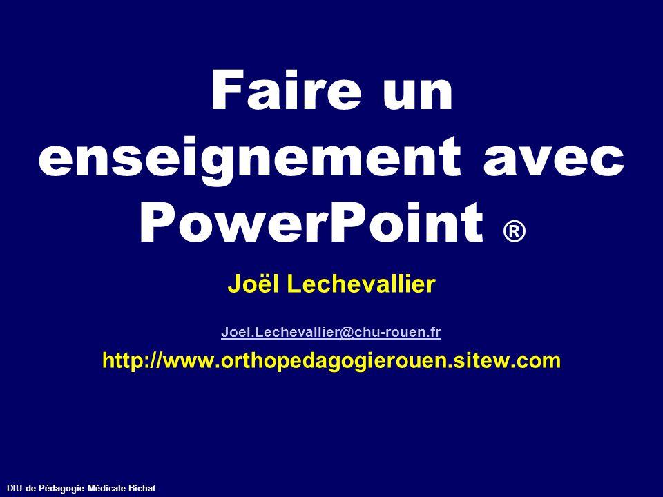 Faire un enseignement avec PowerPoint ®