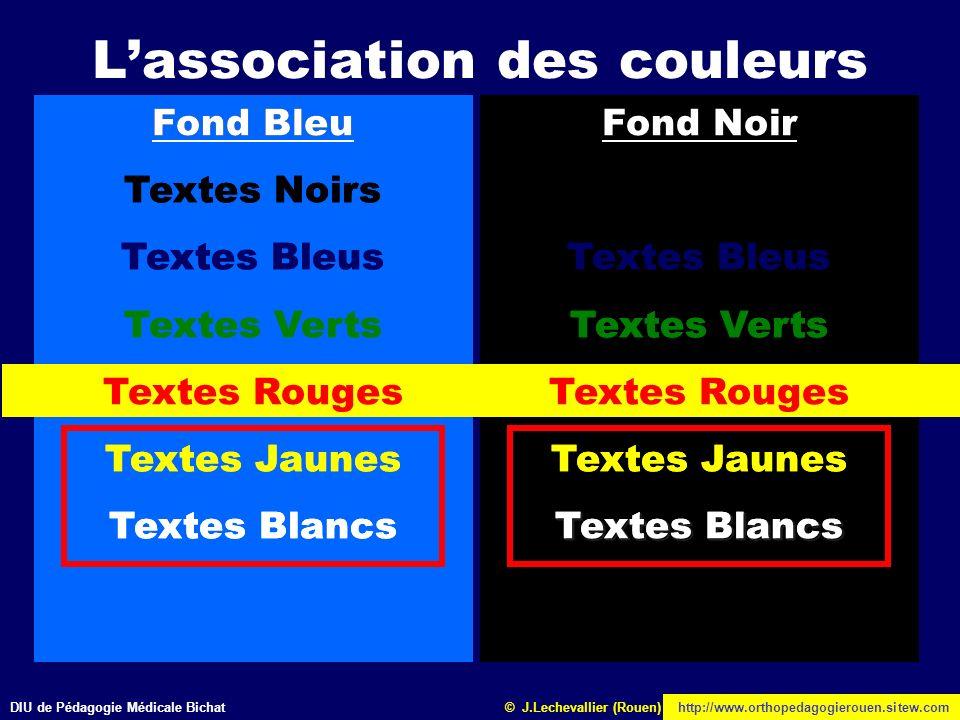 L'association des couleurs