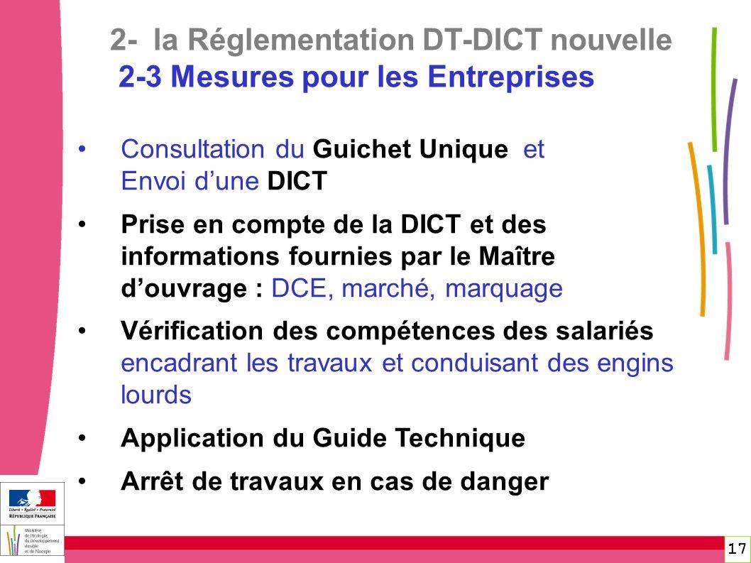2- la Réglementation DT-DICT nouvelle 2-3 Mesures pour les Entreprises