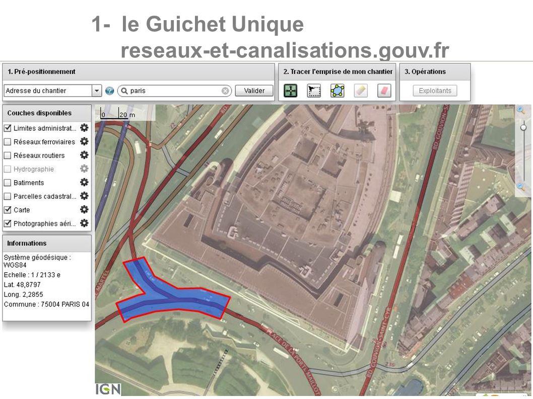 1- le Guichet Unique reseaux-et-canalisations.gouv.fr 6