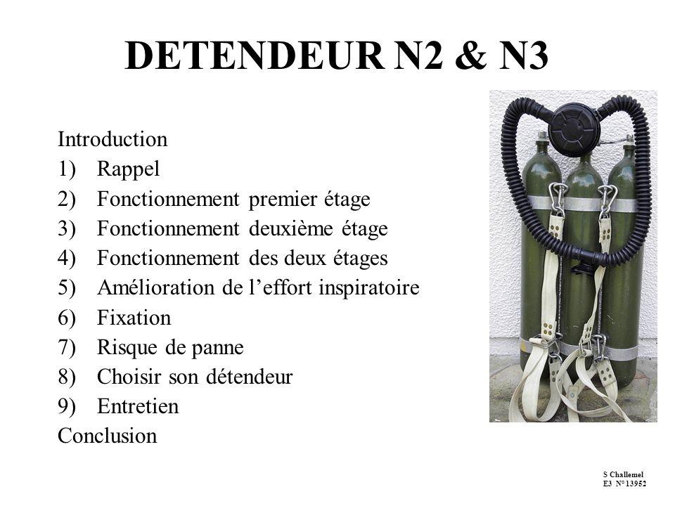 DETENDEUR N2 & N3 Introduction Rappel Fonctionnement premier étage