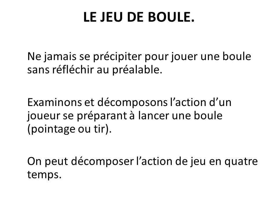 LE JEU DE BOULE.